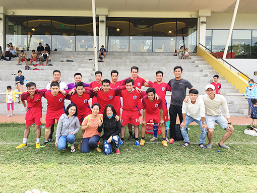 The quarterfinals vs Tan Hung hospital team