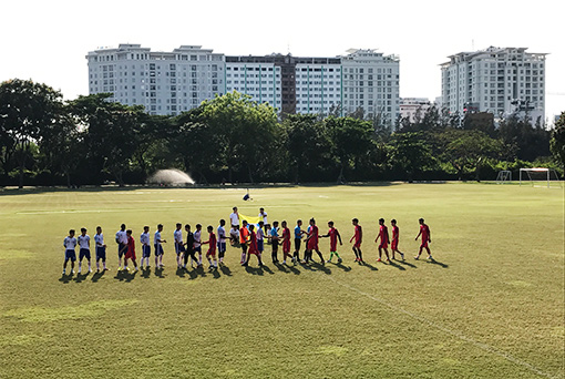 The final match vs Ton Duc Thang University