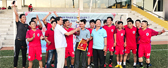 BIN HOLDINGS team won the championship in the Youth Union Football League District 7