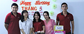 BIN HOLDINGS celebrated birthday party for employees who have birthday in May