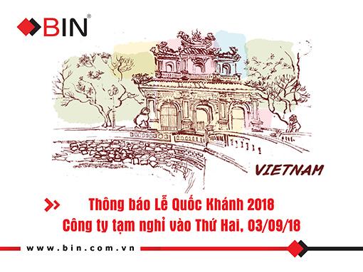 BIN Holdings-Thong bao nghi le Quoc Khanh-2018