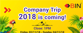 Company Trip 2018 Announcement