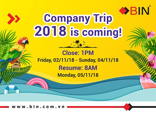 BIN Holdings-Company Trip 2018