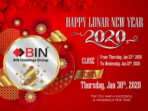 Lunar New Year Closure Notice 2020